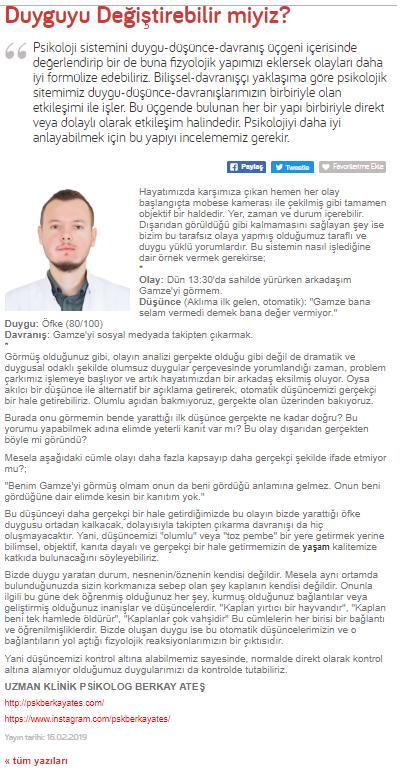 İstanbul psikolog duyguyu değiştirebilir miyiz