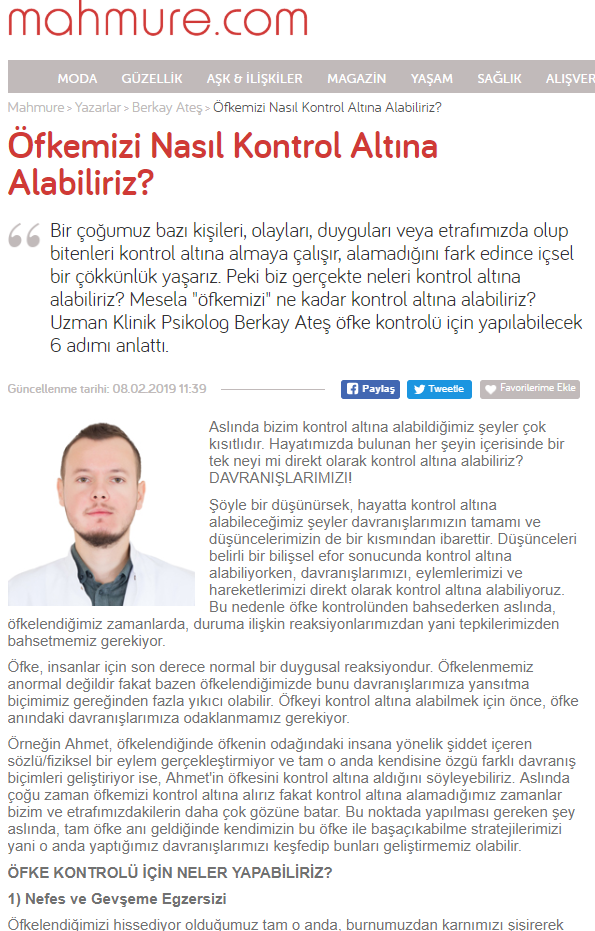 istanbul psikolog öfke kontrolü